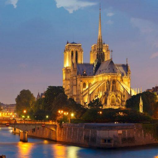 France-Paris-Notre-Dame-de-Paris-Night