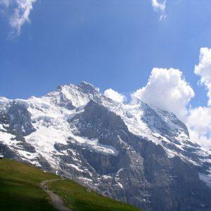 Jungfrau (4.158 m, Berner Alpen, Nordseite), von Kleine Scheidegg aus