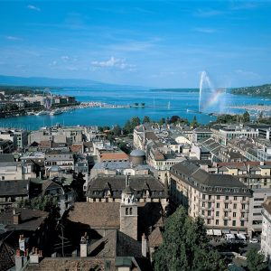 Switzerland-Geneve-Panorama-Rainbow