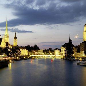 Switzerland-Zurich-Evening