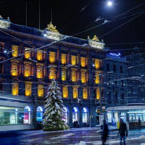Switzerland-Zurich-Winter-Christmas-Tree
